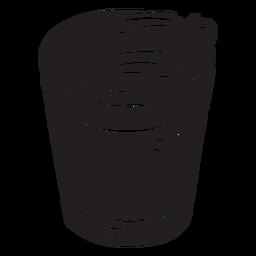 Cóctel bebida bebida negro