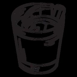 Curso de copo de coquetel