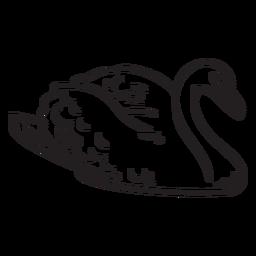 Trazo de ilustración de pato incoloro