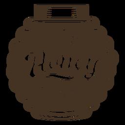 Insignia de miel de contenedor