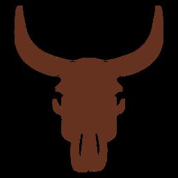 Ilustración occidental vintage de cráneo de vaca