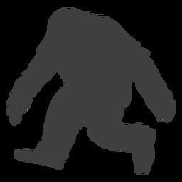 Criatura bigfoot peludo preto liso