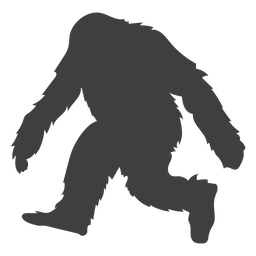Kreatur haariger Bigfoot, mattschwarz