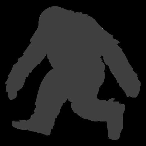 Criatura peluda bigfoot plana negra Transparent PNG