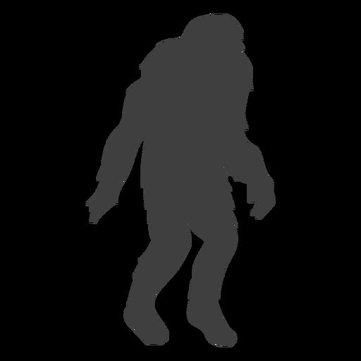 Criatura monstro mítico bigfoot preto Transparent PNG