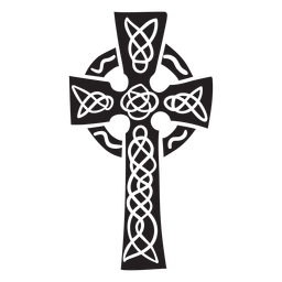 Cross Celtic Irland schwarz