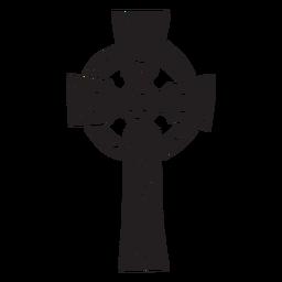 Cruz celta irlanda preto