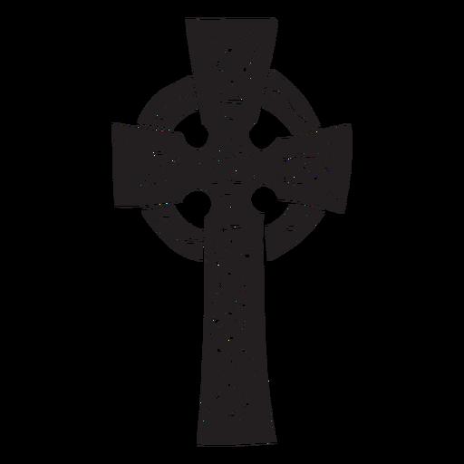 Cruz celta irlanda negro