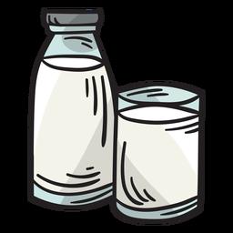 Ilustración de bebida de bebida de leche láctea