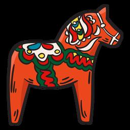 Ilustração de estátua tradicional de cavalo Dala
