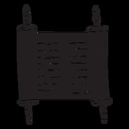 Pergaminho do mar morto antigo preto