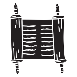 Schriftrolle vom Toten Meer, uraltes Schwarz
