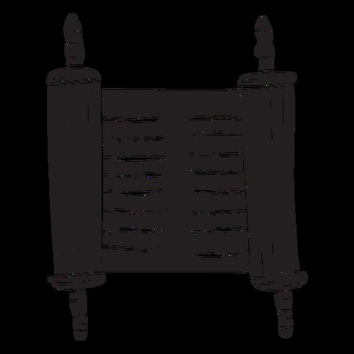 Rollo del mar muerto antiguo negro