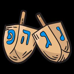 Dreidel dreidl top spinning ilustración