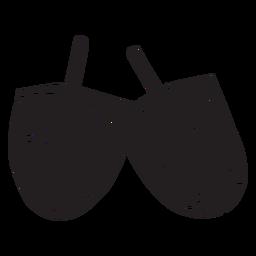 Dreidl dreidel negro antiguo