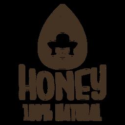 Gota de miel insignia de abeja natural
