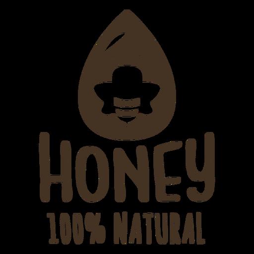 Drop honey natural bee badge Transparent PNG