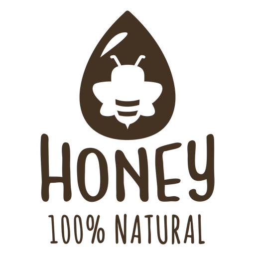 Drop honey natural bee badge
