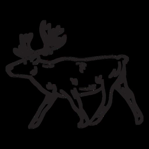 Elk moose animal stroke Transparent PNG
