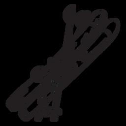 Curso de bastões de esqui de equipamento