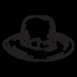 Traçado de chapéu de moda estilo fedora