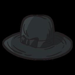 Ilustración judía de sombrero fedora