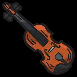 Ilustração de instrumento irlandês Fiddle irlandês