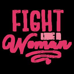 Luta contra o câncer de mulher