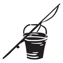 Ilustración de negro de barra de cubo de pesca