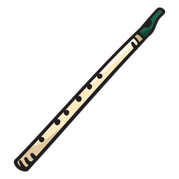 Flute irish music instrument illustration