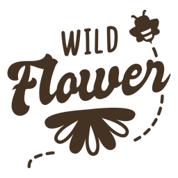 Flying bee flower lettering
