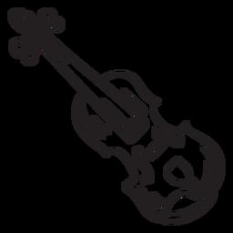 Música folk violín violín golpe