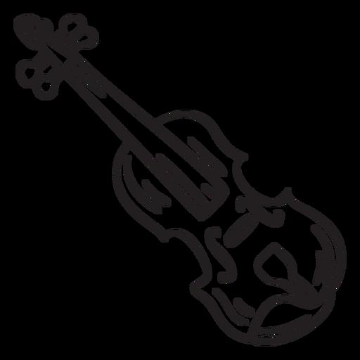 Folk music violin fiddle stroke Transparent PNG