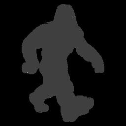 Foot bigfoot walking step black