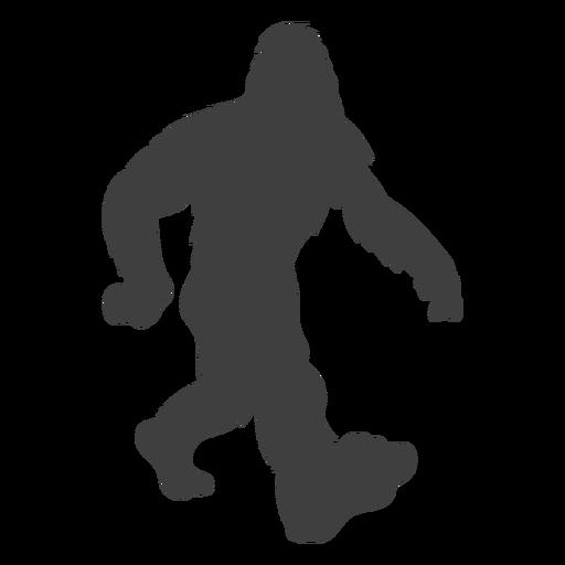 Pie bigfoot caminando paso negro Transparent PNG