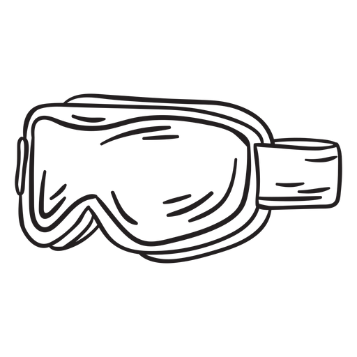 Gear winter snow goggles stroke Transparent PNG
