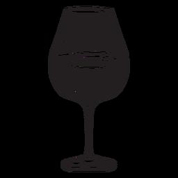 Glas Weingetränk schwarz