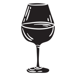 Glass wine beverage black