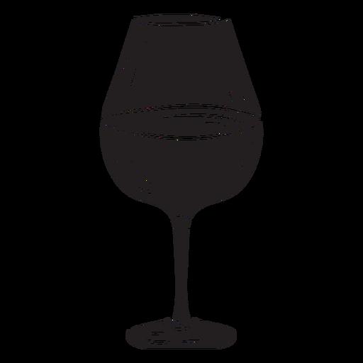 Bebida de vinho de vidro preto Transparent PNG