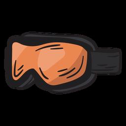 Schutzbrillenski-Snowboard-Gangillustration