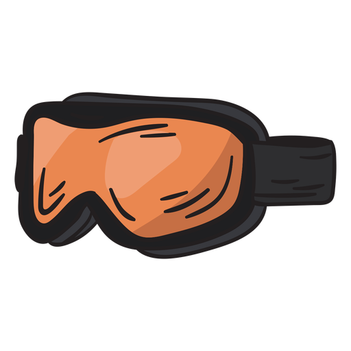 Goggles ski snowboard gear illustration