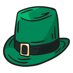 Green hat leprechaun irish illustration