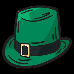 Ilustración irlandesa de duende sombrero verde