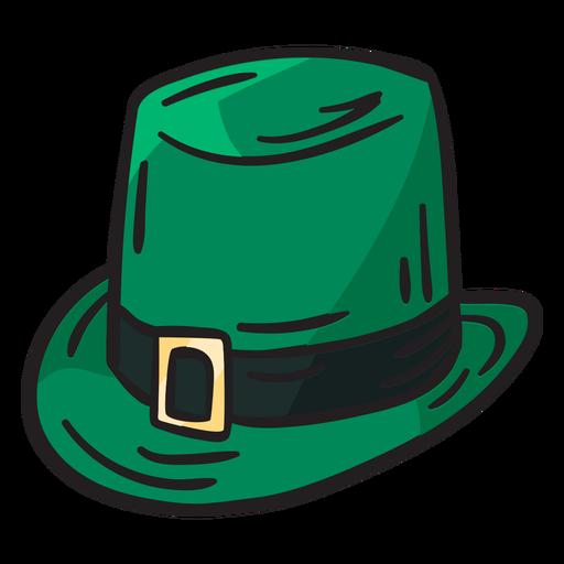 Ilustración irlandesa de duende sombrero verde Transparent PNG