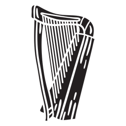 Arpa celta instrumento música negro