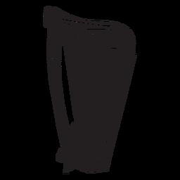 Harpa celta instrumento música preto