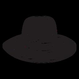 Chapéu judaico fedora preto