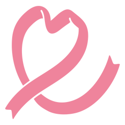 Heart pink ribbon style illustration