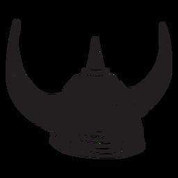 Casco vikingo negro ilustración
