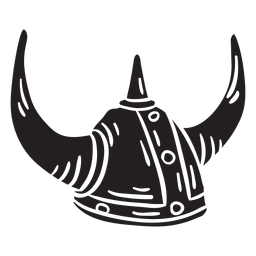 Helmet viking black illustration